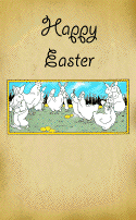 Chickens and Bunnies Easter Card