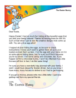 Easter Morning Letter from The Easter Bunny:  I Hid Your Eggs