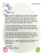 Easter Morning Letter from The Easter Bunny:  I Saw You at the Mall
