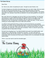 Easter Bunny Letter Teenager