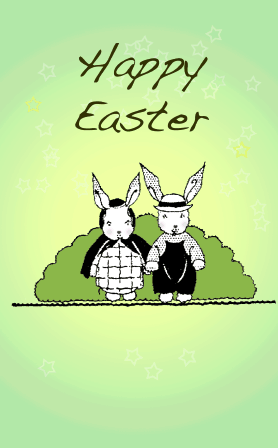 Bucolic Bunnies Easter Card
