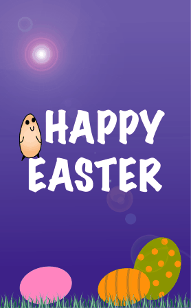 Chick and Eggs Easter Card