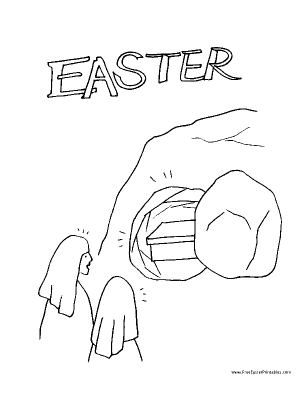 Empty Tomb Easter Coloring Page