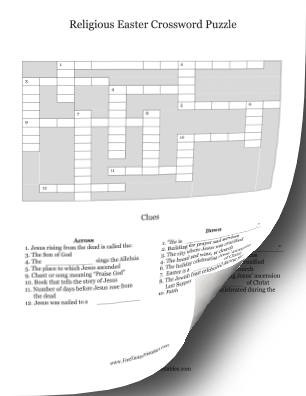 graphic relating to Easter Crossword Puzzles Printable identify Printable Spiritual Easter Crossword Puzzle