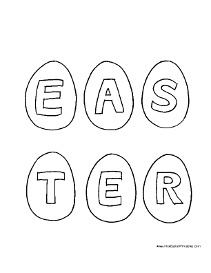Six Eggs Easter Coloring Page