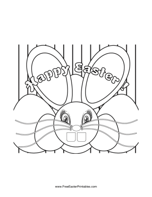 Stylized Bunny Easter Coloring Page
