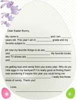 printable letters from the easter bunny and easter coloring pages